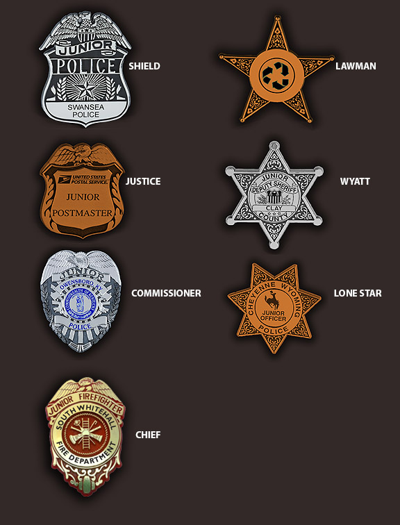 plastic police badges with custom imprint