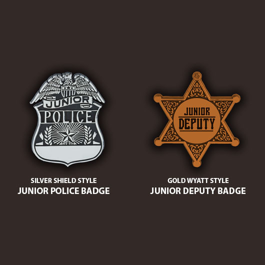 plastic preprinted police clip badges