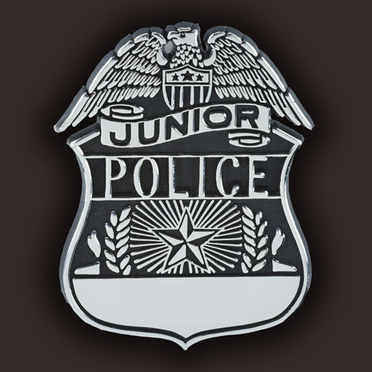 Junior Police plastic Shield badge