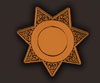 blank 7 point sheriff star